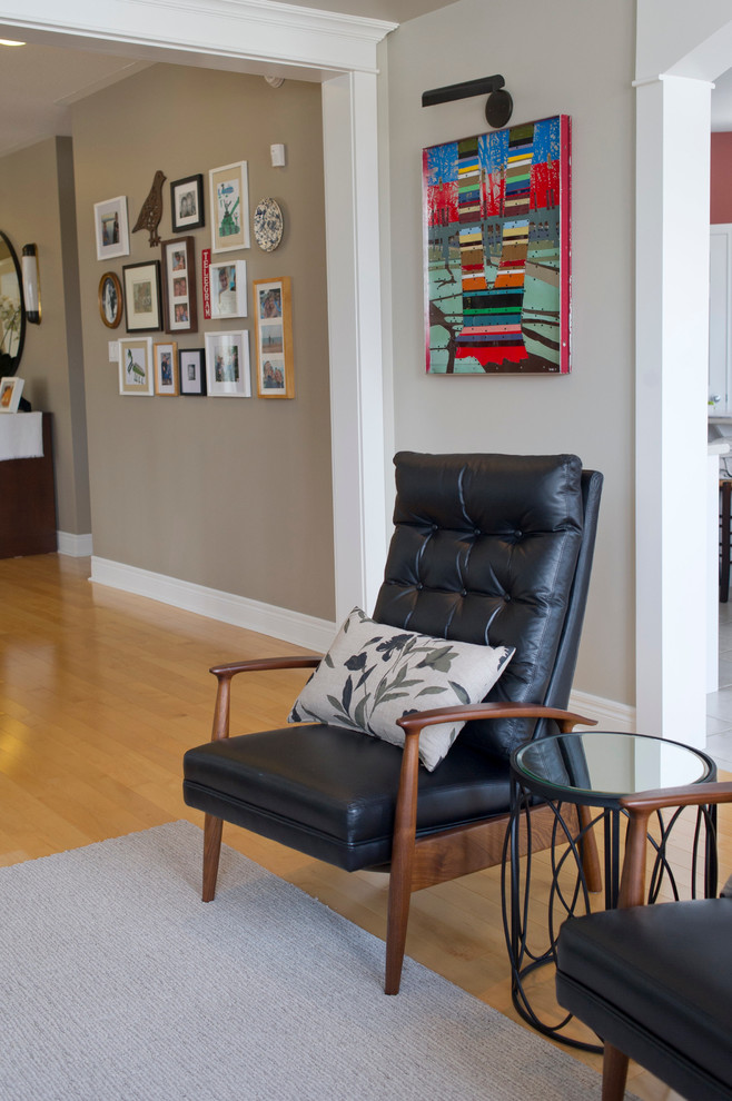 Coggin for Transitional Family Room with Mid Century Modern Recliners