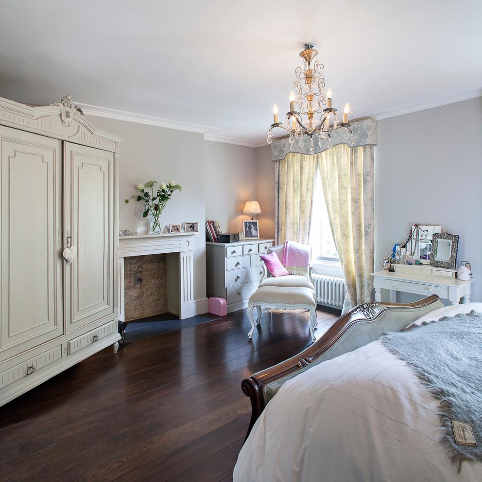 Contractors Wardrobe for Victorian Bedroom with Pink Throw