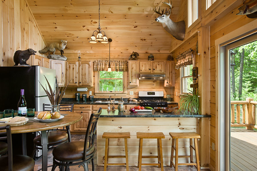 Coventry Log Homes for Rustic Kitchen with Log Cabin Kits