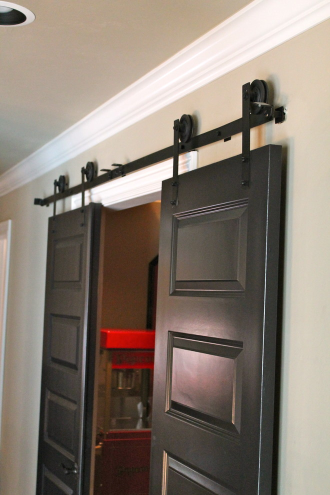 Csh Hardware for Traditional Home Theater with Doors to Media Room