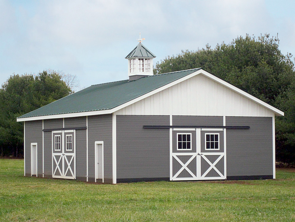 Daltile Denver for Farmhouse Exterior with Garage Doors