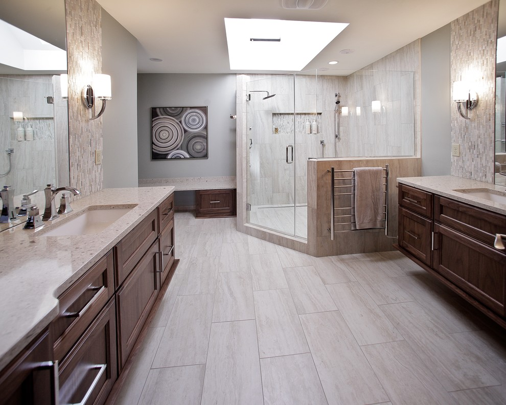 Daltile San Diego for Contemporary Bathroom with Sconce