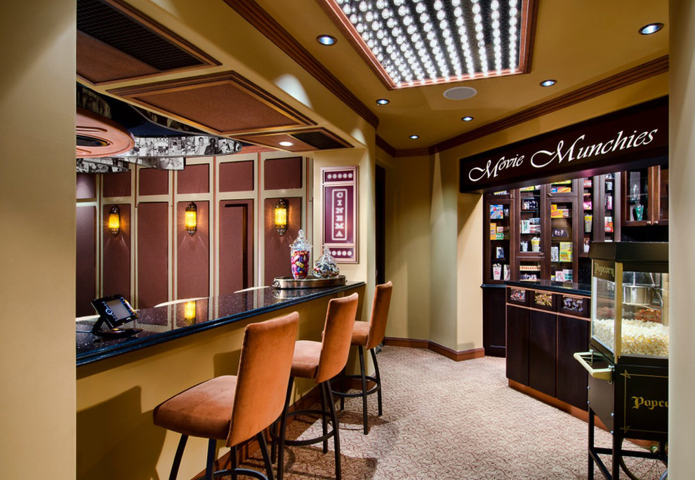 Del Monte Theater for Mediterranean Home Theater with Concession Stand