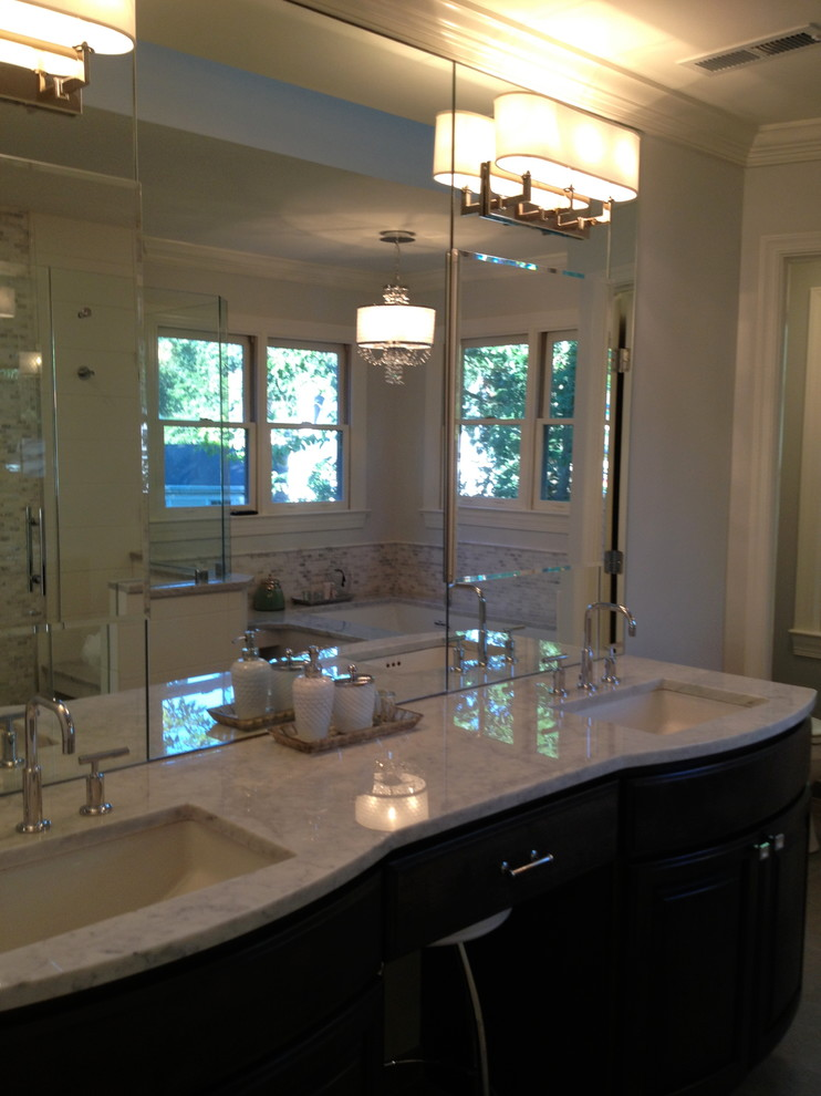 Dominion Electric Supply for Modern Bathroom with Reston Home Tour 10192013