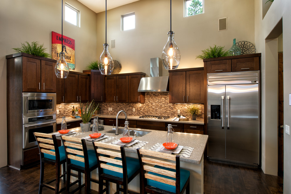Dorn Homes for Transitional Kitchen with Breakfast Bar