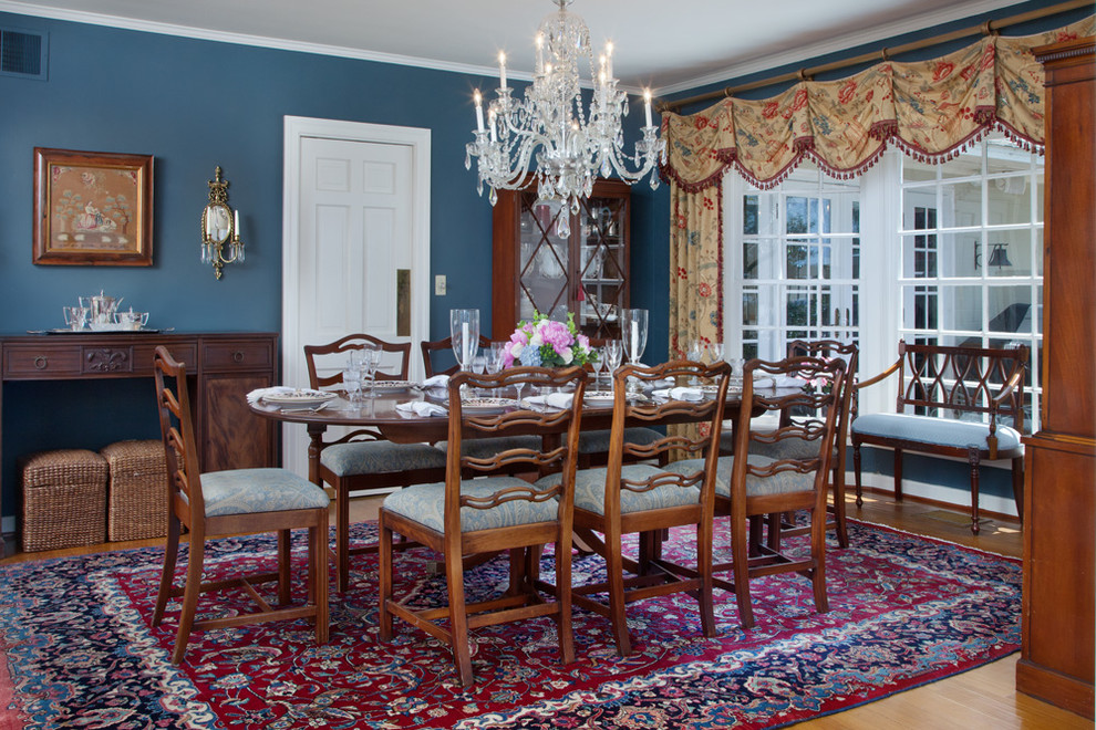 Dr Horton Orlando for Traditional Dining Room with Wicker Ottoman