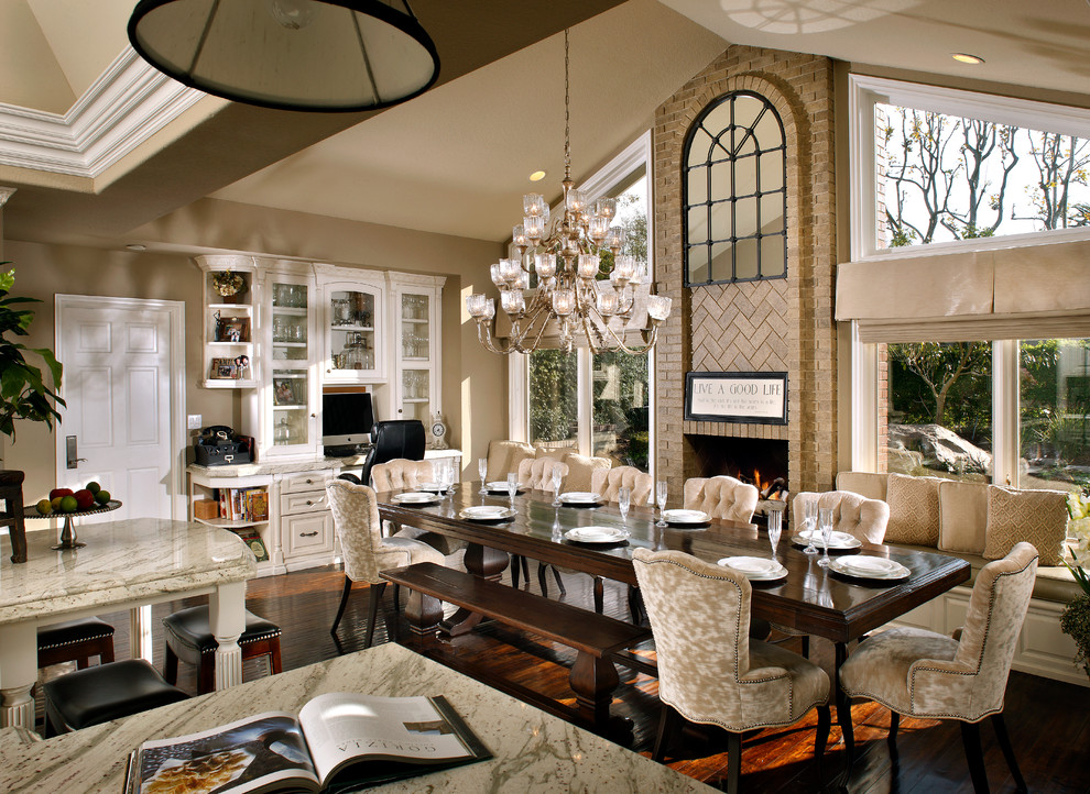 Dunn Edwards Paints for Traditional Dining Room with Suede Chair