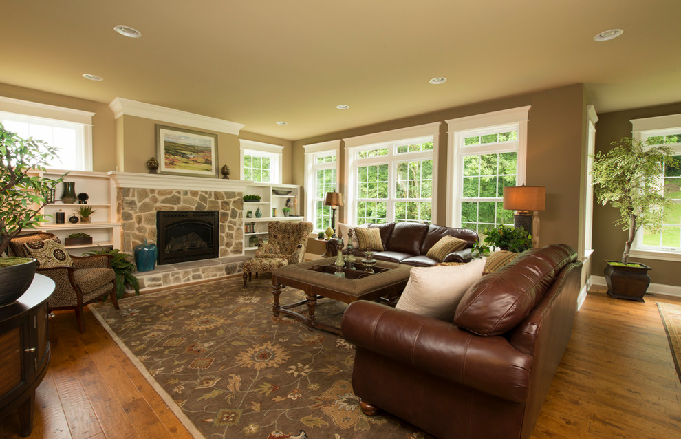 Eichelbergers for Traditional Family Room with Transom Windows