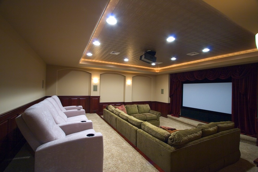 El Dorado Hills Theater for Modern Basement with Movie Room