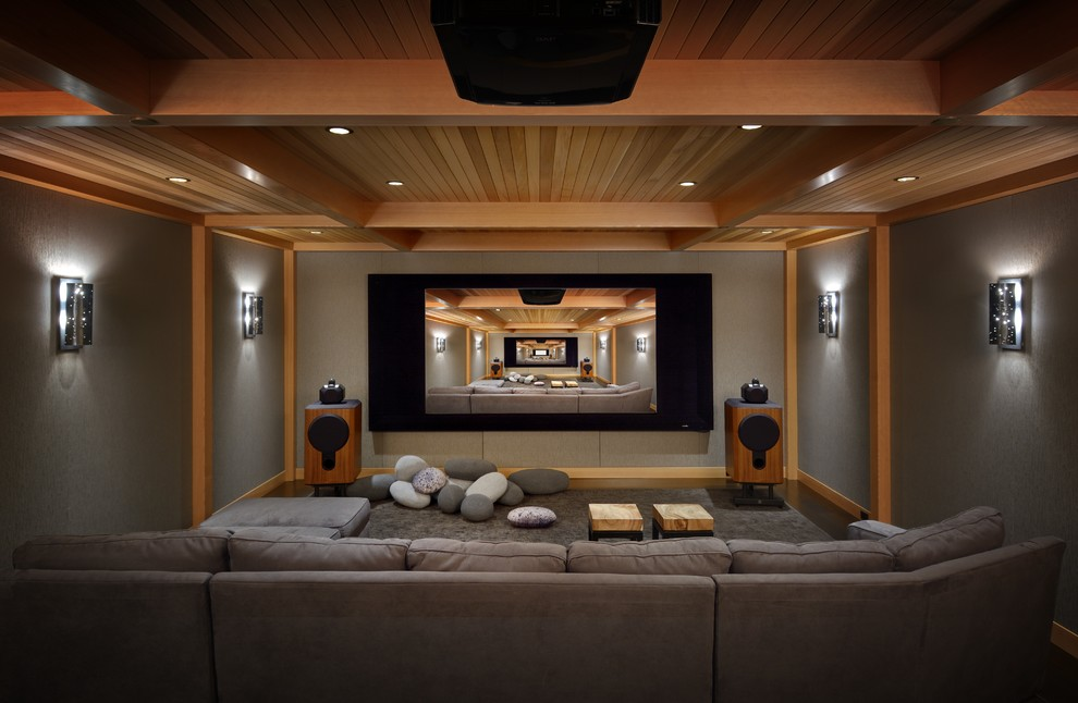 Elk River Theater for Rustic Home Theater with Theater Room