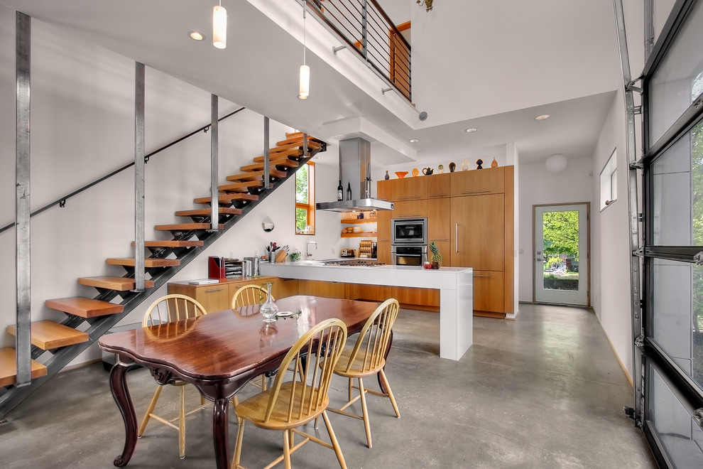 Escala Seattle for Industrial Kitchen with Peninsula