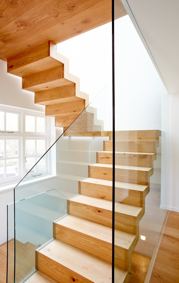 Escher Stairs for Contemporary Staircase with Wooden Staircase