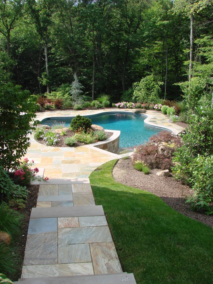 Essex Fells Nj for Eclectic Pool with Eclectic
