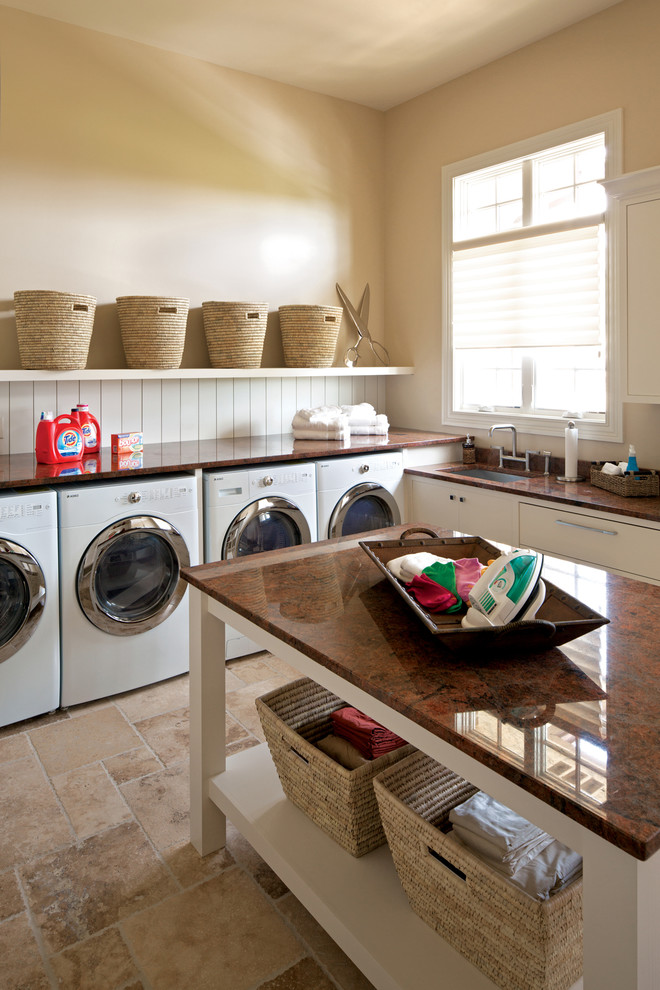 Family Leisure Indianapolis for Contemporary Laundry Room with Island