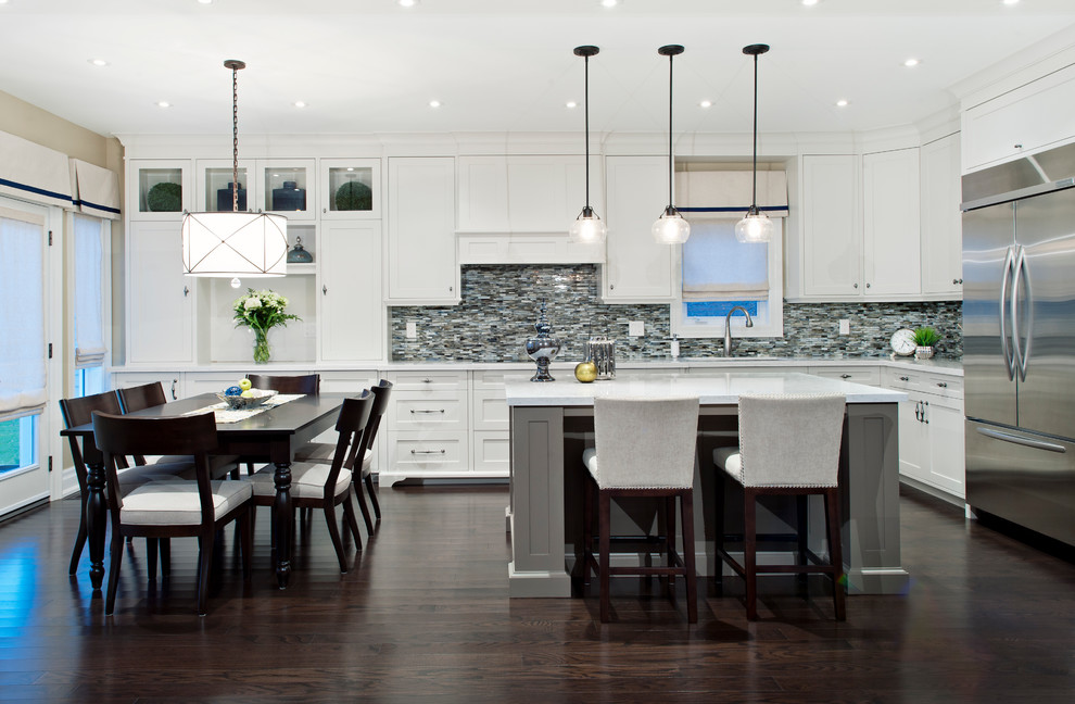 Feiss for Transitional Kitchen with Island Seating