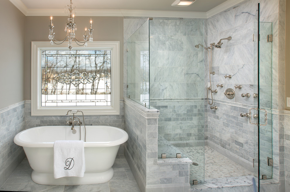 Ferguson Plumbing Locations for Traditional Bathroom with Leaded Glass Window