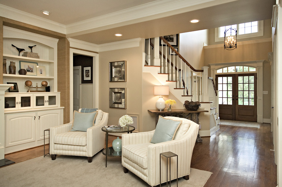 Firestone Raleigh Nc for Traditional Family Room with Crown Molding