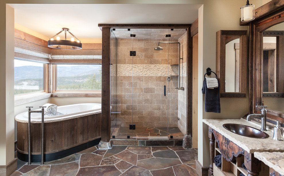 Flemington Dept Store for Rustic Bathroom with Window Wall