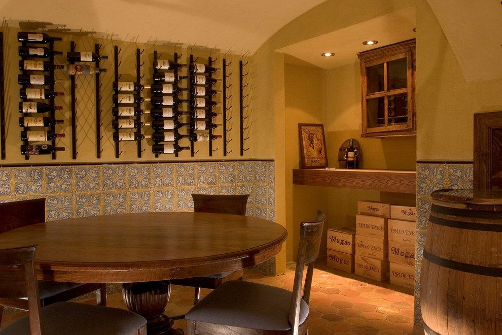 Free Shipping Crate and Barrel for Mediterranean Wine Cellar with Wine Storage
