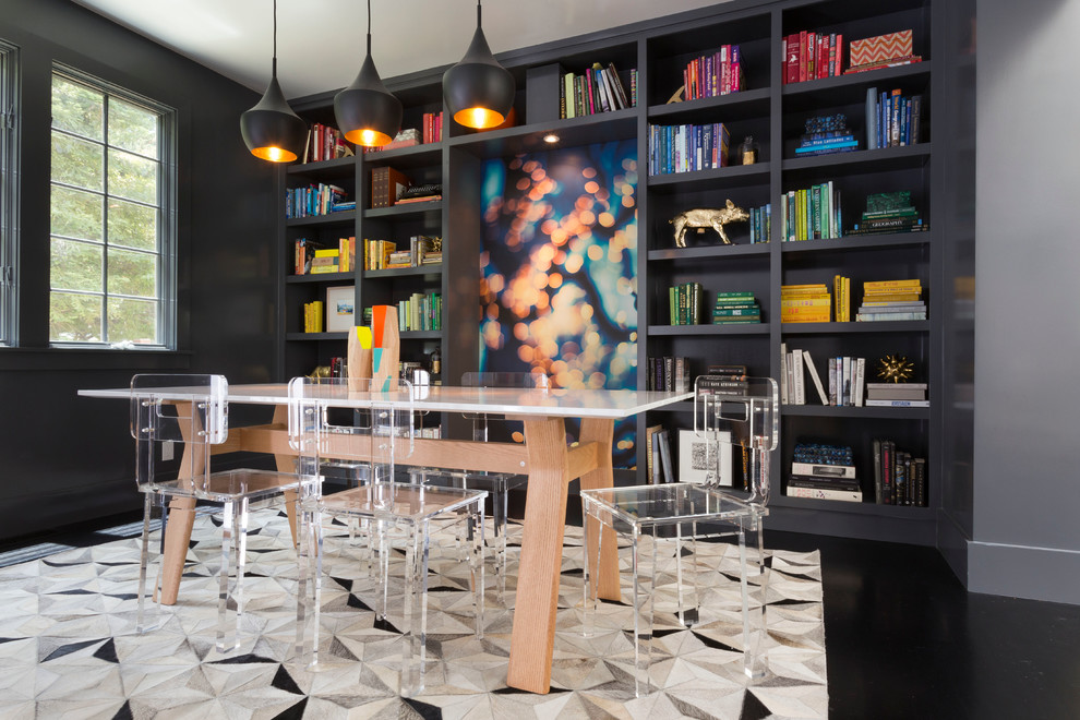 Gaf Timberline Hd for Contemporary Dining Room with Bookshelves
