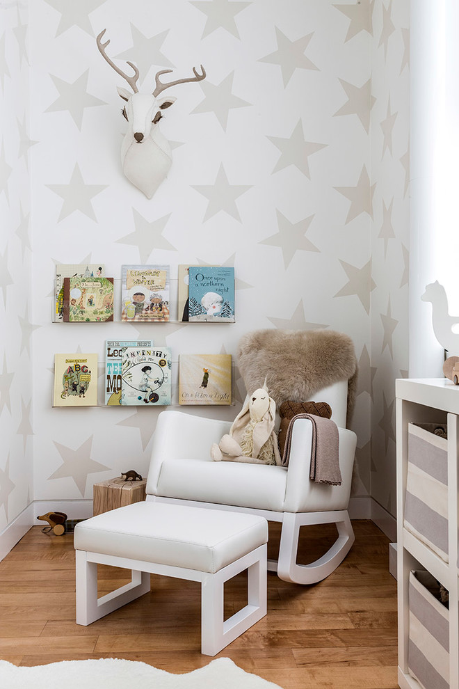 Gender Neutral Nursery for Contemporary Nursery with Fur