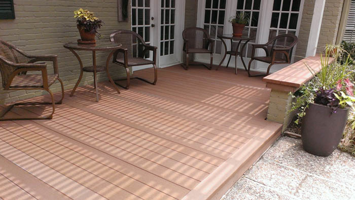 Geodeck for Contemporary Deck with Wood Deck