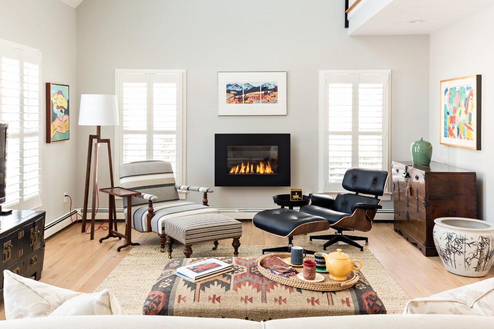 George Washington Toma for Transitional Living Room with Hardwood Flooring