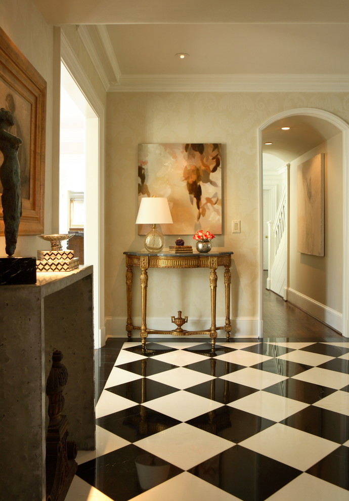 Gild Hall Nyc for Traditional Entry with Harlequin Floor Pattern