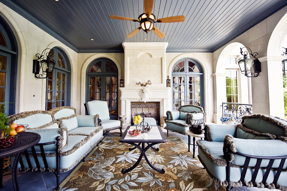 Godby Furniture for Traditional Porch with Area Rug