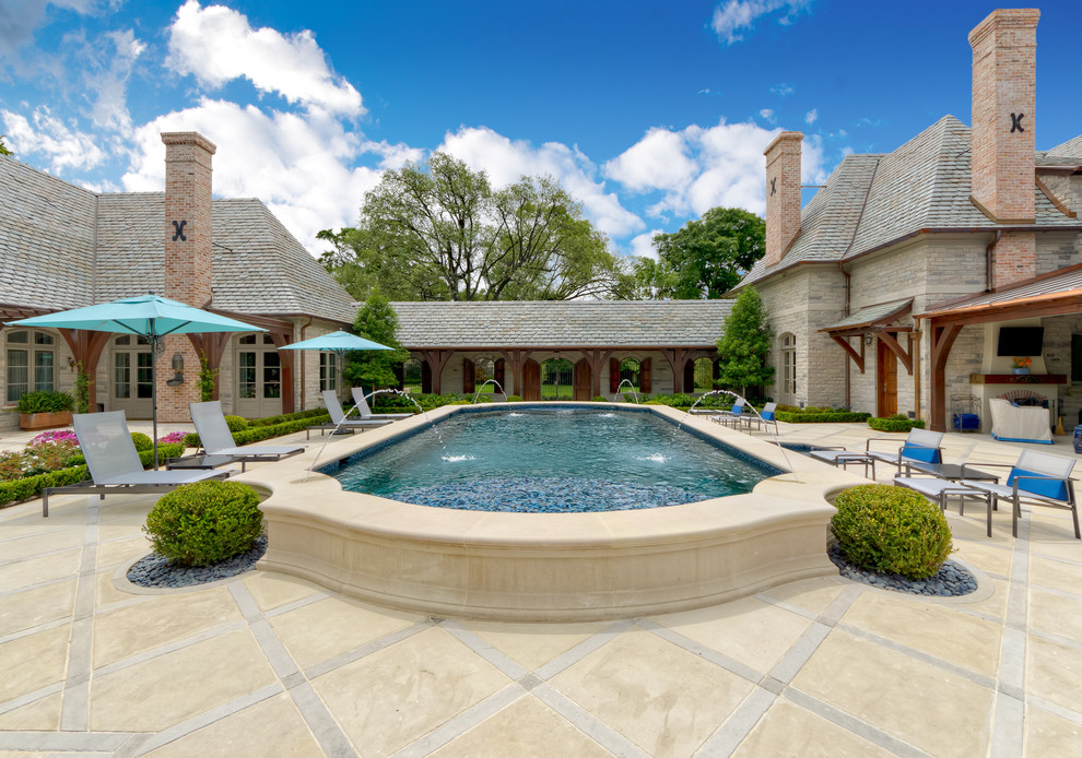 Goodwill Arlington Heights for Traditional Pool with Stones