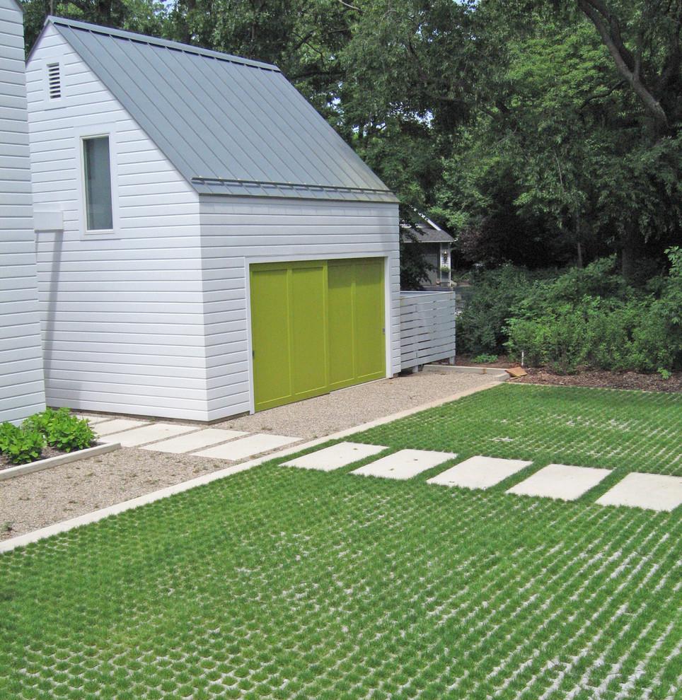 Grasscrete for Farmhouse Exterior with Grass
