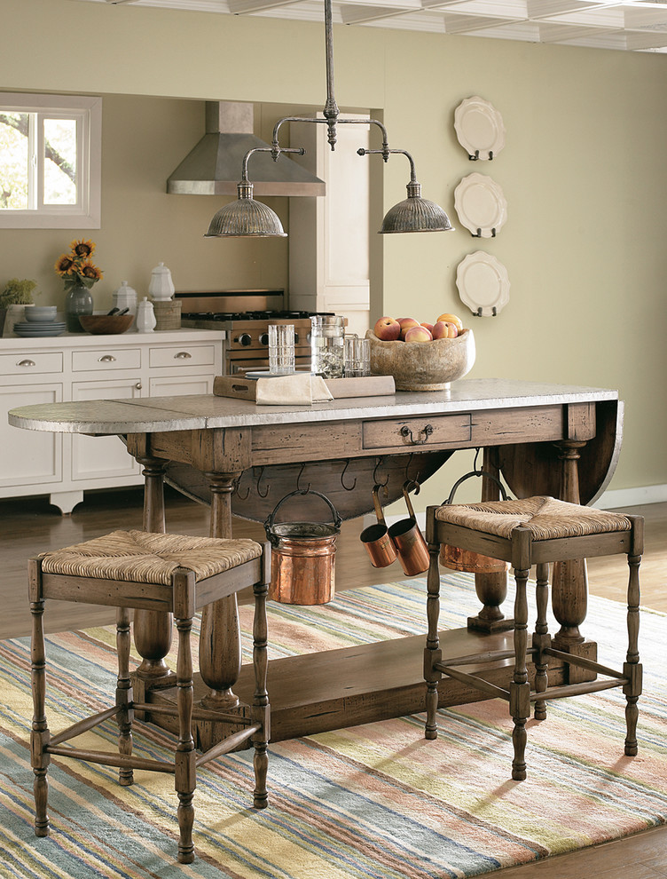 Greek Isles Charlotte for Traditional Spaces with Distressed Kitchen Island