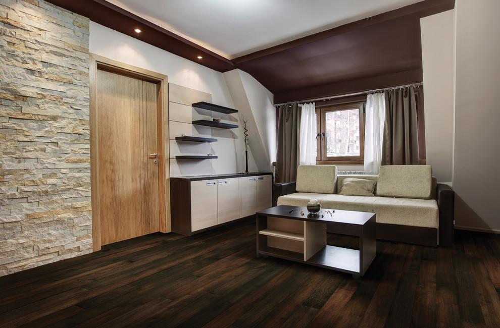 Hallmark Hardwoods for Modern Living Room with Family Room Floors