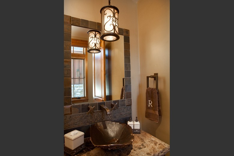 Hammerton Lighting for Traditional Powder Room with Bathroom