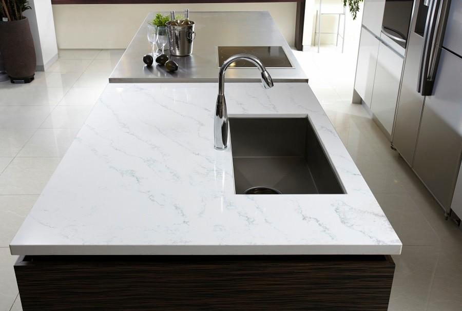 Hanstone Quartz for Modern Kitchen with White