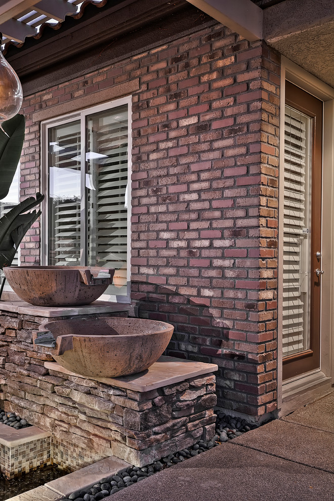 Hebron Brick for Traditional Patio with Fireplace