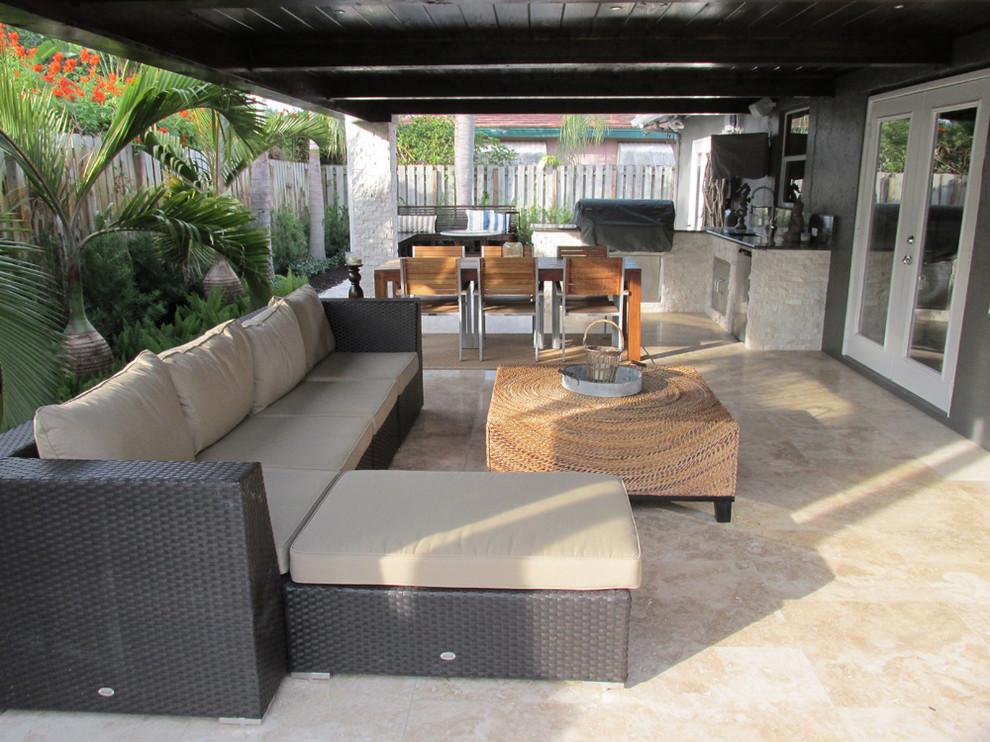 Hibachi Grill Miami for Contemporary Patio with Outdoor Furniture