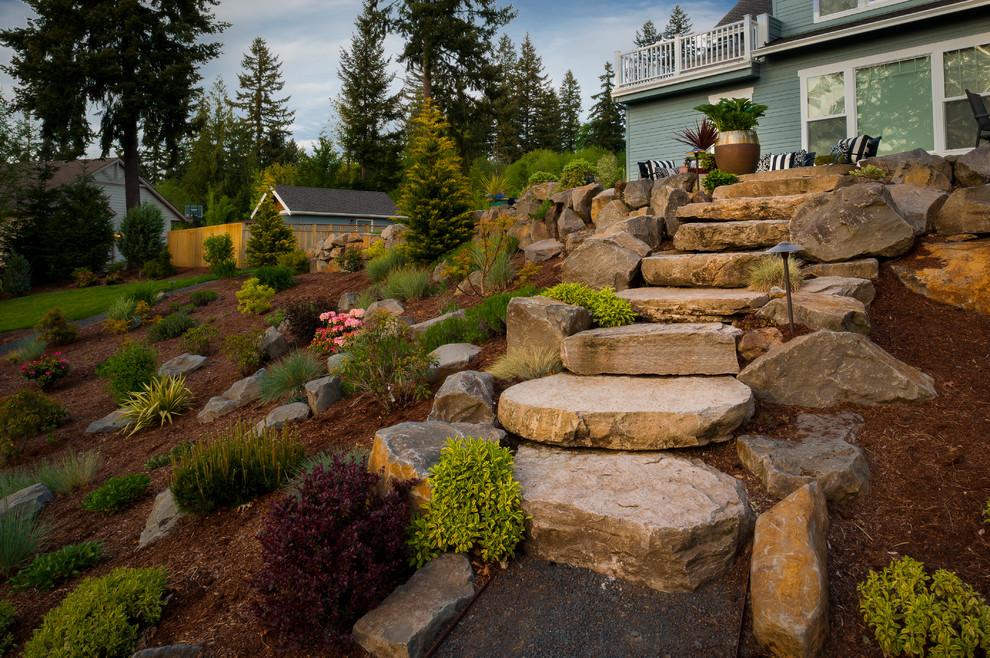 Hillside Landscaping for Traditional Landscape with Hillside Landscape