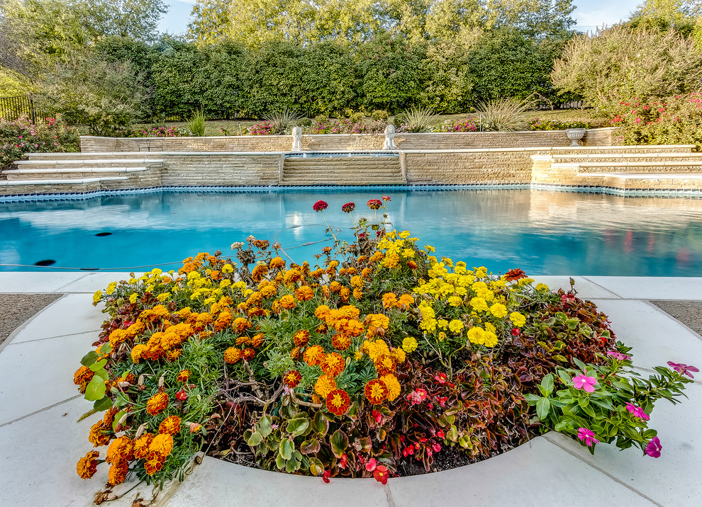Hobert Pools for Traditional Pool with Pool Spa