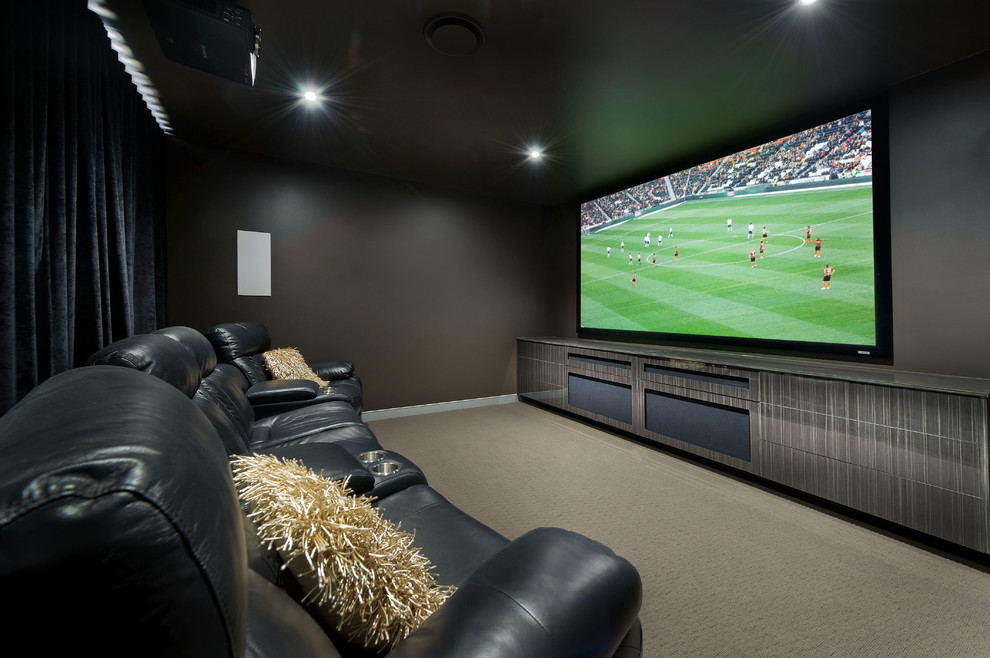 Home Goods Madison Wi for Contemporary Home Theater with Movie Room