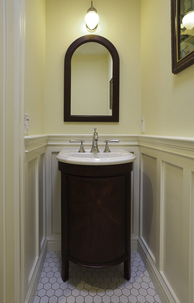 Homedepotess for Craftsman Powder Room with Traditional Bath