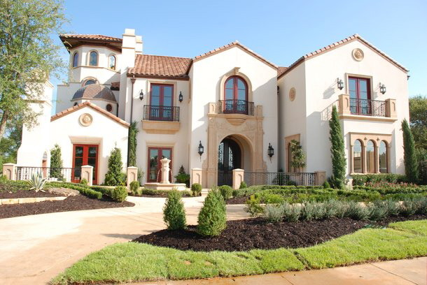 House Umber for Mediterranean Exterior with Wrought Iron Balcony