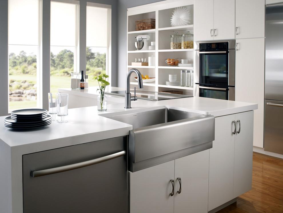 Houzer for Farmhouse Kitchen with Classic Farmhouse Sink