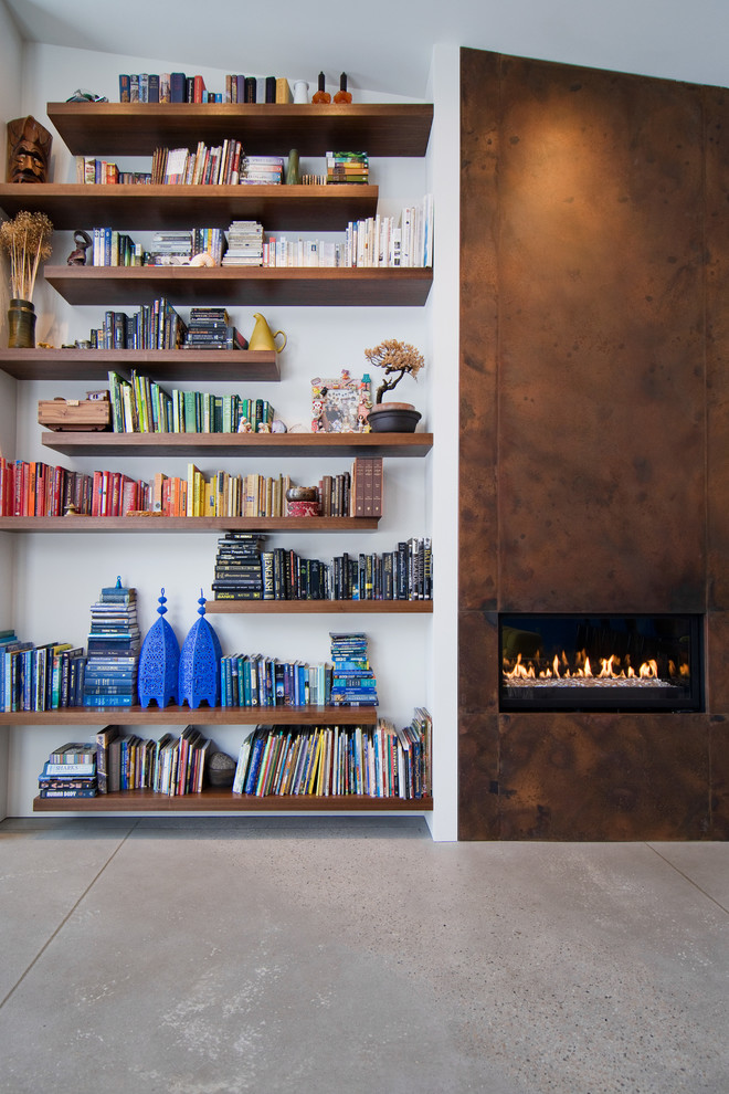 How to Build Floating Shelves for Contemporary Living Room with Bookshelves