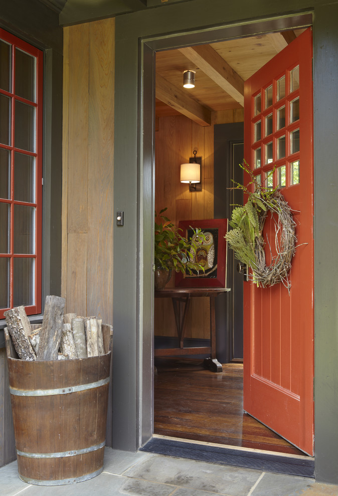 How to Install a Doorbell for Rustic Entry with Red Door