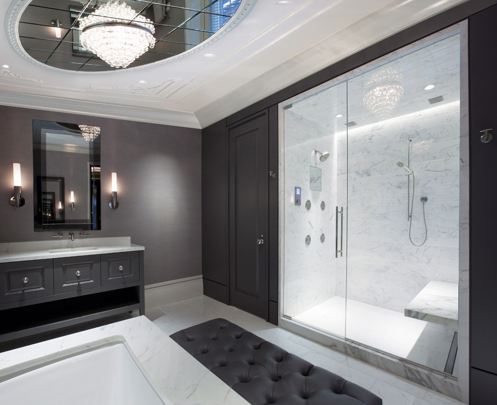 How to Unclog a Shower Drain for Contemporary Bathroom with Ceiling Light