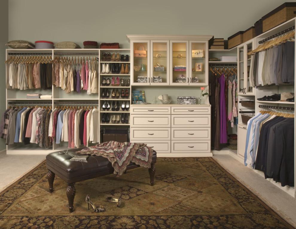 Ikea Besta Shelf for Traditional Closet with Area Rug