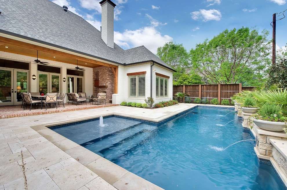 Ikea Planters for Traditional Pool with Covered Patio