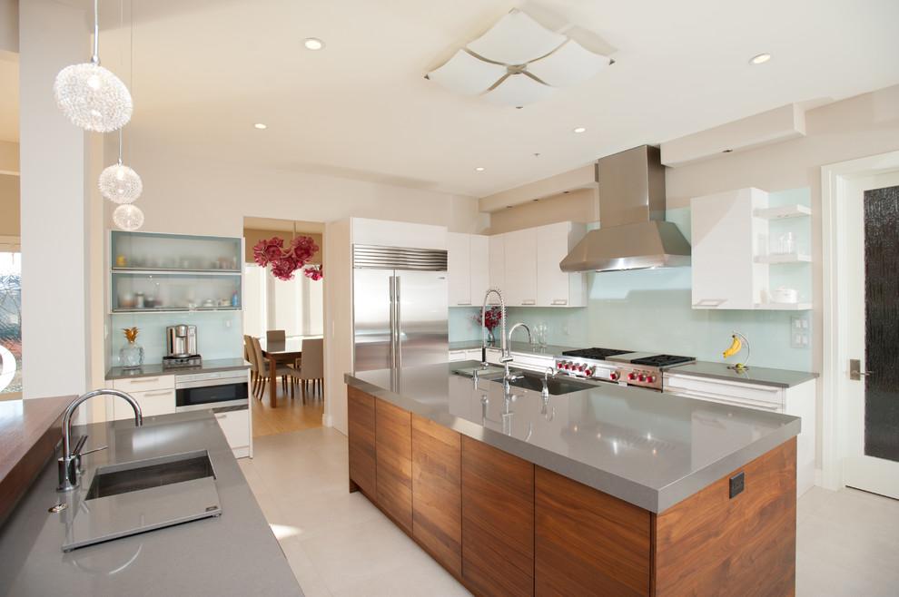 Ikea Quartz Countertops for Contemporary Kitchen with Pendant Lights