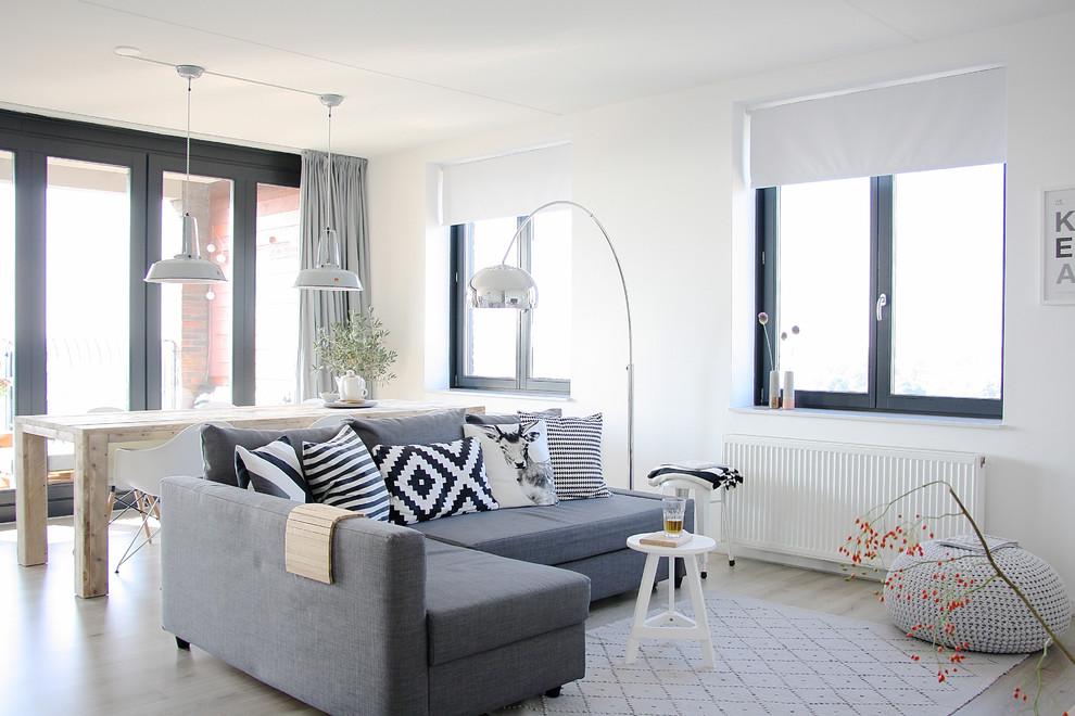 Ikea Stockholm Rug for Scandinavian Living Room with Light Gray Rug